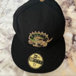 59Fifty Black and Green Raptors Hat
